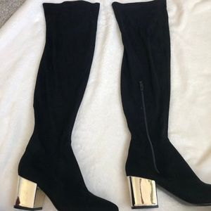 NWOT Faux Suede Knee High Boots from Asos